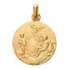 (FMED.Méd.couMdP.Au14.2) Médaille de cou or - Les Amours Avers
