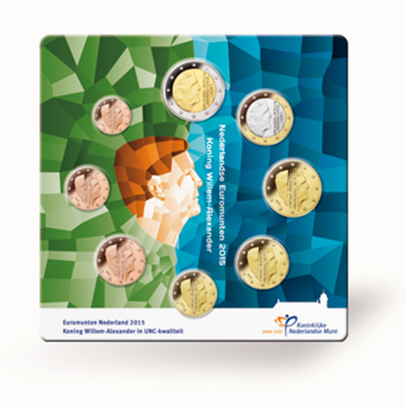 Uncirculated coin set Netherlands 2015