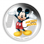 2 dollars Niue 2014 1 once argent BE - Mickey Mouse Revers