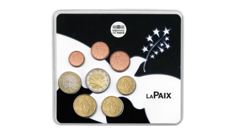 (EUR07.CofBU&FDC.2015.10041293520000) BU coin set France 2015 - Peace in Europe Front (zoom)
