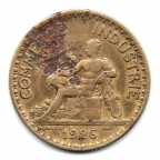 (FMO.1.1926.19.7.000000002) 1 Franc Chambers of commerce 1926 Obverse