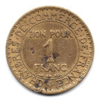 (FMO.1.1926.19.7.000000002) 1 Franc Chambers of commerce 1926 Reverse