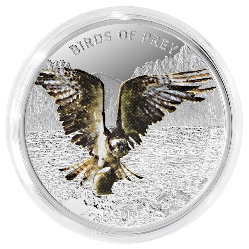 (W160.200.2013.1.ag.BE.bullco.2) 2 Dollars Niue 2013 1 oz Proof silver - Osprey Reverse (zoom)
