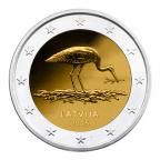 2 euro commémorative Lettonie 2015 - Cigogne