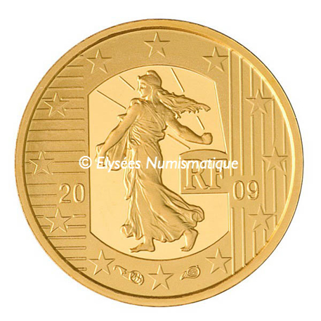 5 euro France 2009 or BE - Semeuse Avers