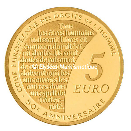 5 euro France 2009 or BE - Semeuse Revers