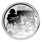 10 euro Belgique 2015 argent BE - Bataille de Waterloo Revers