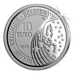 10 euro Belgique 2015 argent BE - Paix en Europe Avers