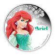 2 dollars Niue 2015 1 once argent BE - La Petite Sirène Revers