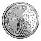 20 euro Belgique 2015 argent BE - Enlèvement d'Europe par Zeus Avers