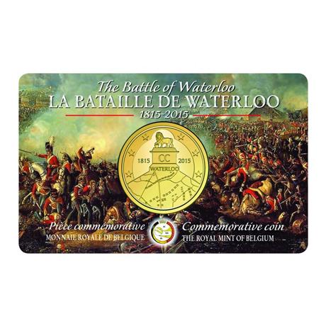 2,5 euro Belgique 2015 BU - Bataille de Waterloo Revers
