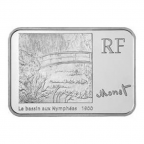 5 euro France 2009 argent BU - Claude Monet Avers