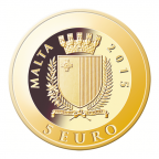 5 euro Malte 2015 or BE - Jean-Paul II Avers