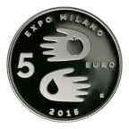 5 euro Saint-Marin 2015 argent BE - Exposition universelle Revers