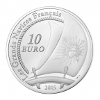 10 euro France 2015 argent BE - Le Soleil Royal Revers