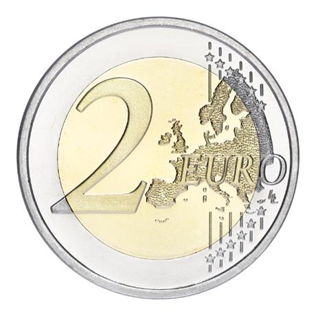2 euro commémorative Finlande 2015 - Jean Sibelius Revers