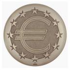Médaille presse-papiers bronze - Euro Avers