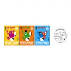 (Srs.PHILEUR18.005.2015,015.2015&300.2015.1) Saint-Marin 2015 - Journée mondiale des toilettes (série des 3 timbres) (premier jour)