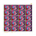 (PHILEUR18.feuillets.2015.8) Feuillet 20 x 0,70 euro Saint-Marin 2015 - Jean-Paul II