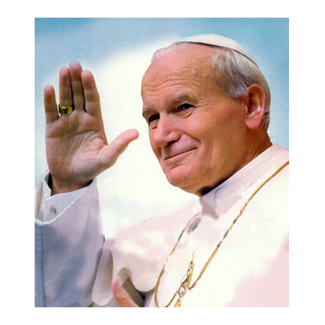 (PHILEUR18.feuillets.2015.8) Feuillet 20 x 0,70 euro Saint-Marin 2015 - Jean-Paul II (visuel complémentaire)