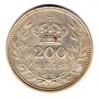 (W176.0200.1.1909.1.000000001) 200 Reis Emmanuel II 1909 Revers