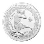 10 euro France 2016 argent BE - Année du Singe Avers
