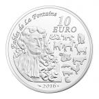 10 euro France 2016 argent BE - Année du Singe Revers