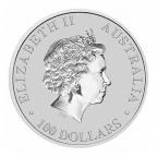 100 dollars Australie 2015 1 once platine BU - Ornithorynque Avers