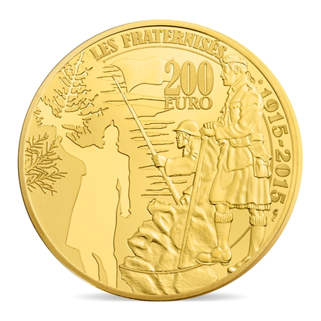 200 euro France 2015 or BE - Première Guerre mondiale Revers