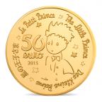 50 euro France 2015 or BE - Le Petit Prince ([]L'essentiel est invisible pour les yeux[]) Revers