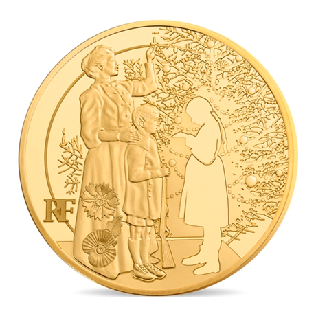 50 euro France 2015 or BE - Première Guerre mondiale Avers