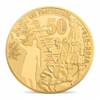 50 euro France 2015 or BE - Première Guerre mondiale Revers