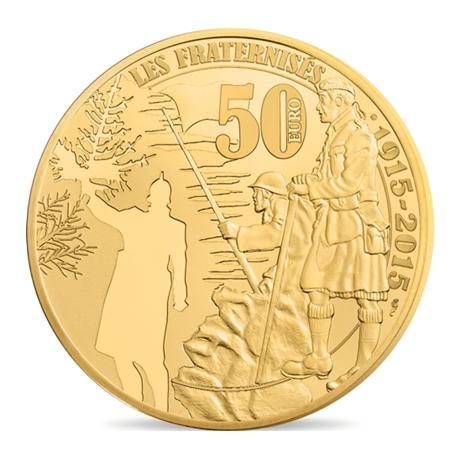 50 euro France 2015 or BE - Première Guerre mondiale Revers