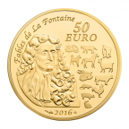 50 euro France 2016 or BE - Année du Singe Revers