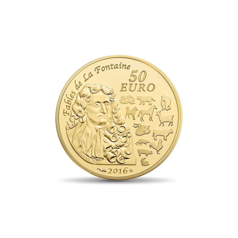 (EUR07.ComBU&BE.2016.10041293460000) 50 euro France 2016 Proof Au - Year of the Monkey Reverse (zoom)
