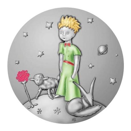 (FMED.Méd.MdP.2015.Ag.sur.CuSn.100112951000A0) Médaille bronze argenté - Le Petit Prince Avers