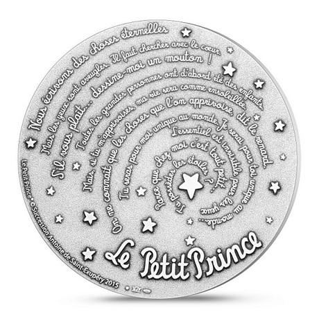 (FMED.Méd.MdP.2015.Ag.sur.CuSn.100112951000A0) Médaille bronze argenté - Le Petit Prince Revers