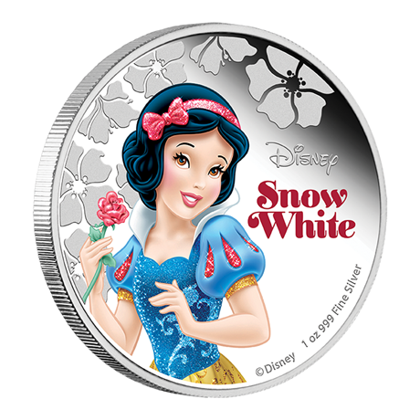 2 dollars Niue 2015 1 once argent BE - Blanche Neige Revers (visuel supplémentaire)