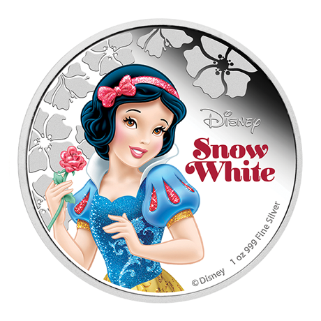 2 dollars Niue 2015 1 once argent BE - Blanche Neige Revers