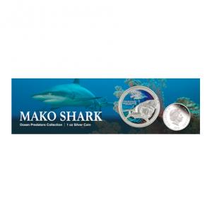 2 dollars Niue 2016 1 once argent BE - Requin mako (visuel complémentaire 2)
