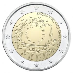 2 euro commémorative Finlande 2015 - Drapeau européen Avers (zoom)
