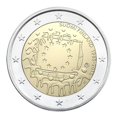 2 euro commémorative Finlande 2015 - Drapeau européen Avers