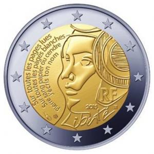 2 euro commémorative France 2015 - Fête de la Fédération Avers (zoom)