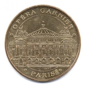 (FMED.Méd.souv.2015.CuAlNi1.1.1.000000002) Jeton touristique - Opéra Garnier Avers