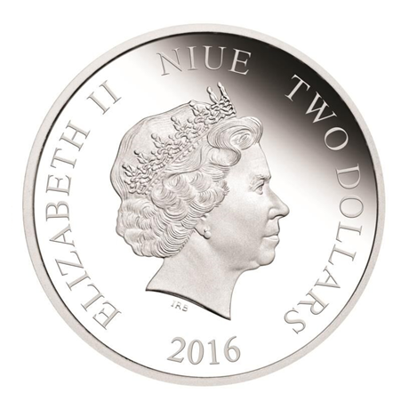 2 dollars Niue 2016 1 once argent BE - Captain Phasma Avers