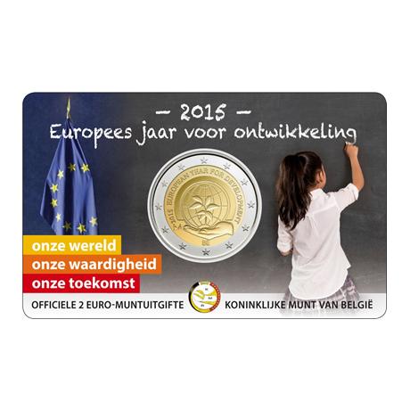 2 euro commémorative Belgique 2015 BU - Année européenne du développement - Légende flamande Recto