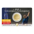 2 euro commémorative Belgique 2015 BU - Année européenne du développement Recto