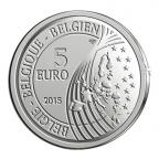 5 euro Belgique 2015 argent BE - Marguerite de Riemaecker-Legot Avers