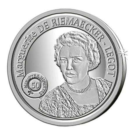 5 euro Belgique 2015 argent BE - Marguerite de Riemaecker-Legot Revers