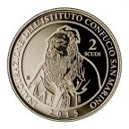 2 Scudi Institut Confucius 2015 - Or BE Revers